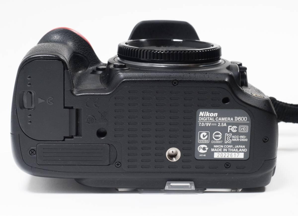 ●ニコン NIKON D600ボディ おまけ付き センサークリーニング済み 完動品(美USED) 22617_画像9