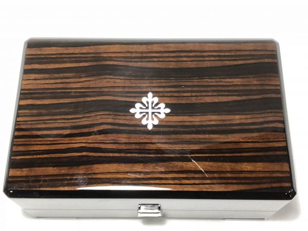 PATEK PHILIPPE パテック フィリップ 時計用 ケース 純正 箱 BOX 黒檀 唐木 化粧箱 空箱 中古 現状品 高級 時計_画像2