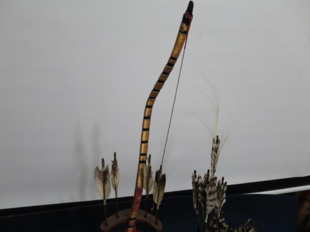 【人形館】「丸平弓A-662」五月人形・武者人形・大将飾り.蒔絵〝五〟_画像2