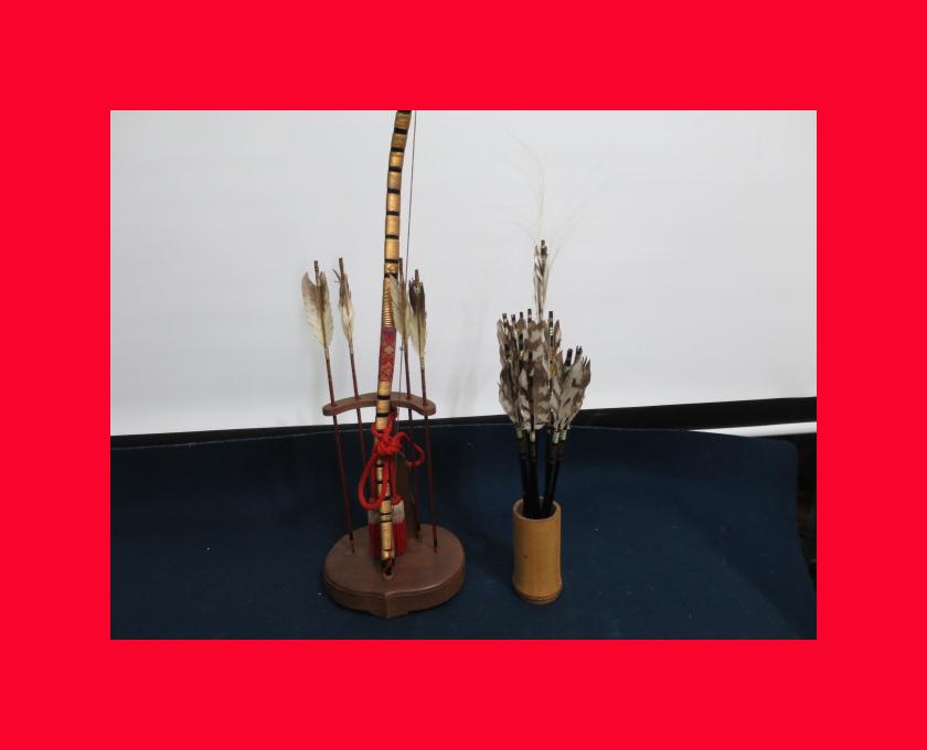 【人形館】「丸平弓A-662」五月人形・武者人形・大将飾り.蒔絵〝五〟_丸平のお品です。
