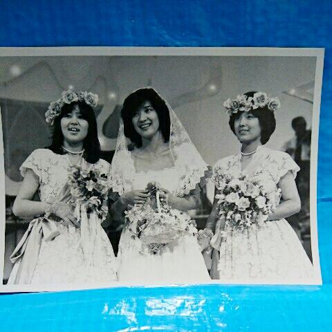 桜田淳子・榊原郁恵・石野真子モノクロ写真