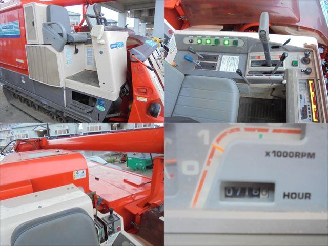 クボタ コンバイン SR55 5条刈 グレンタンク 水平制御付き 可動品 売切り_画像7