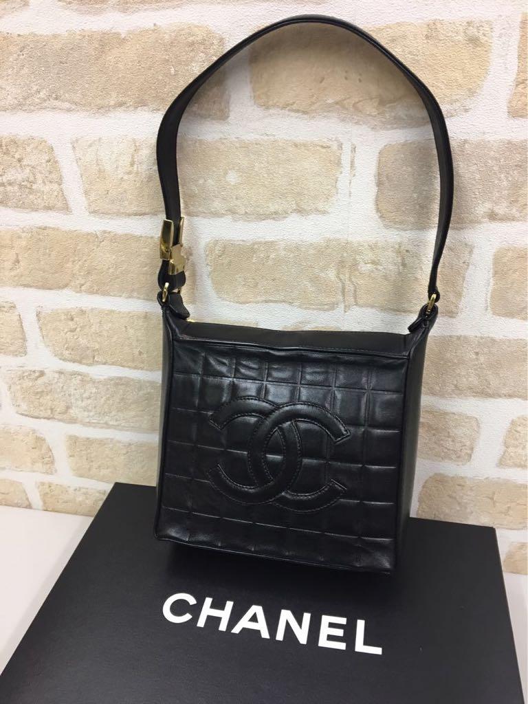 美品◆CHANEL シャネル◆チョコバー ワンショルダー&ハンドバッグ ココマーク_画像1