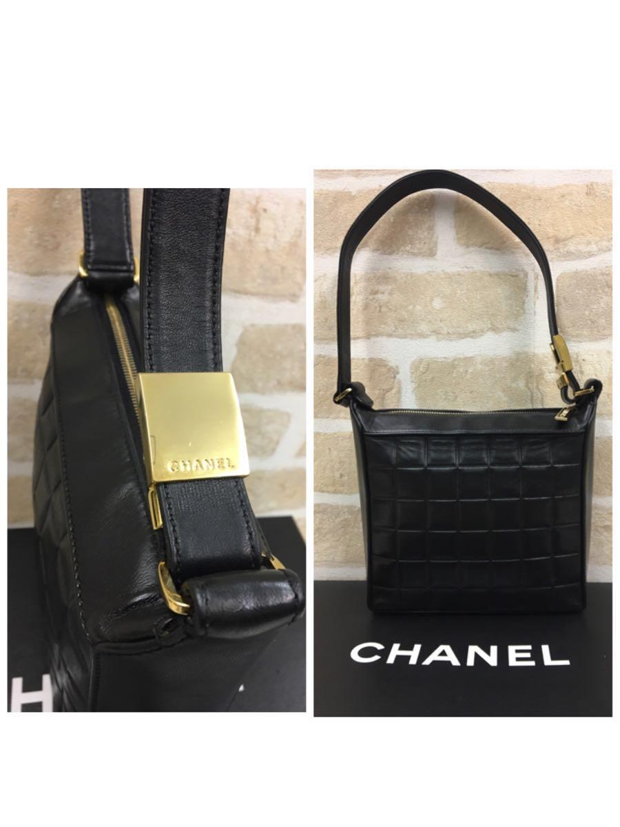 美品◆CHANEL シャネル◆チョコバー ワンショルダー&ハンドバッグ ココマーク_画像3
