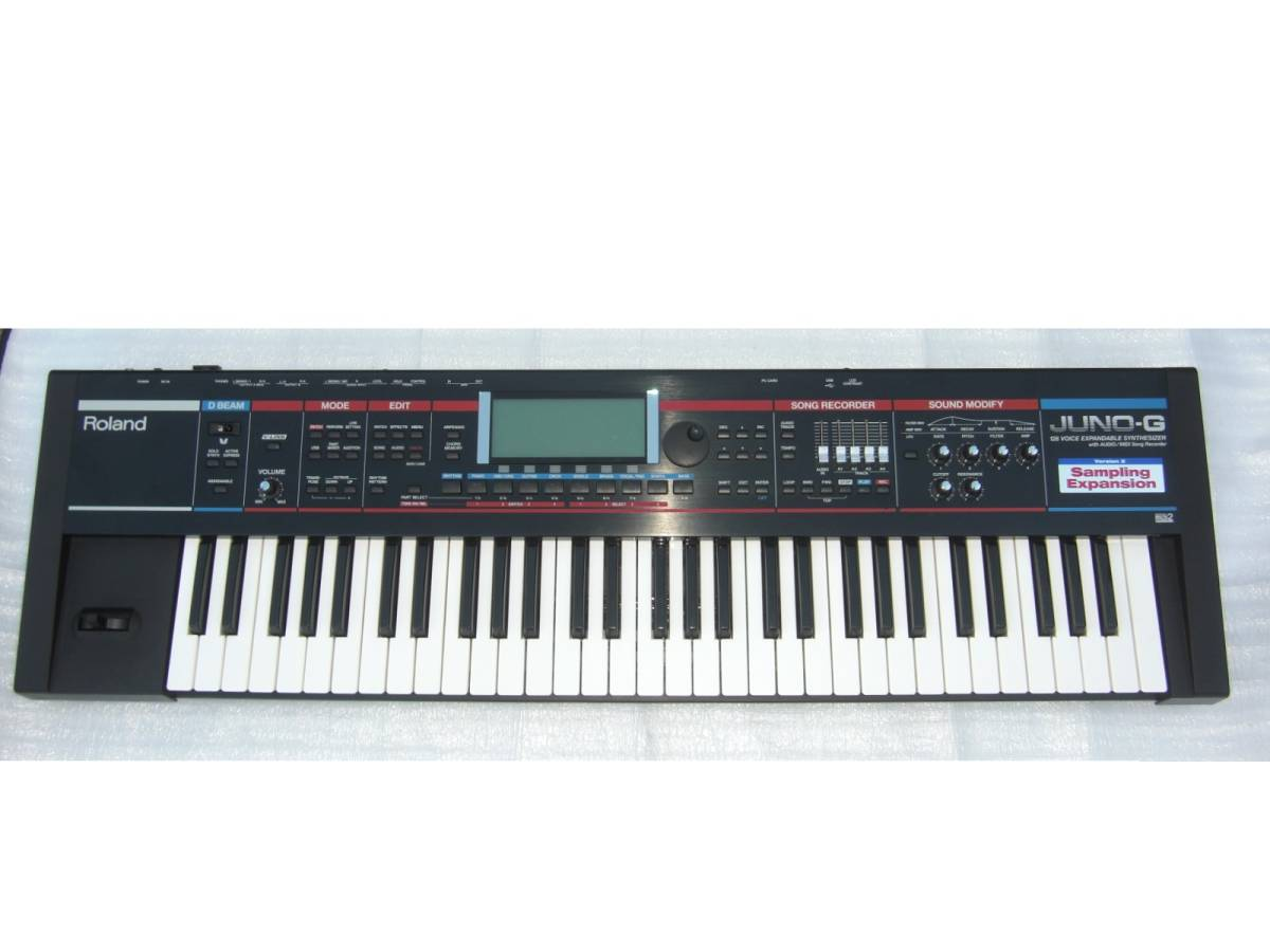 ローランド Roland JUNO-G Ver.2 極上! バージョン2 超美品! 61鍵シンセサイザー キーボード 作曲/ライブ/レコーディング等に超オススメ!