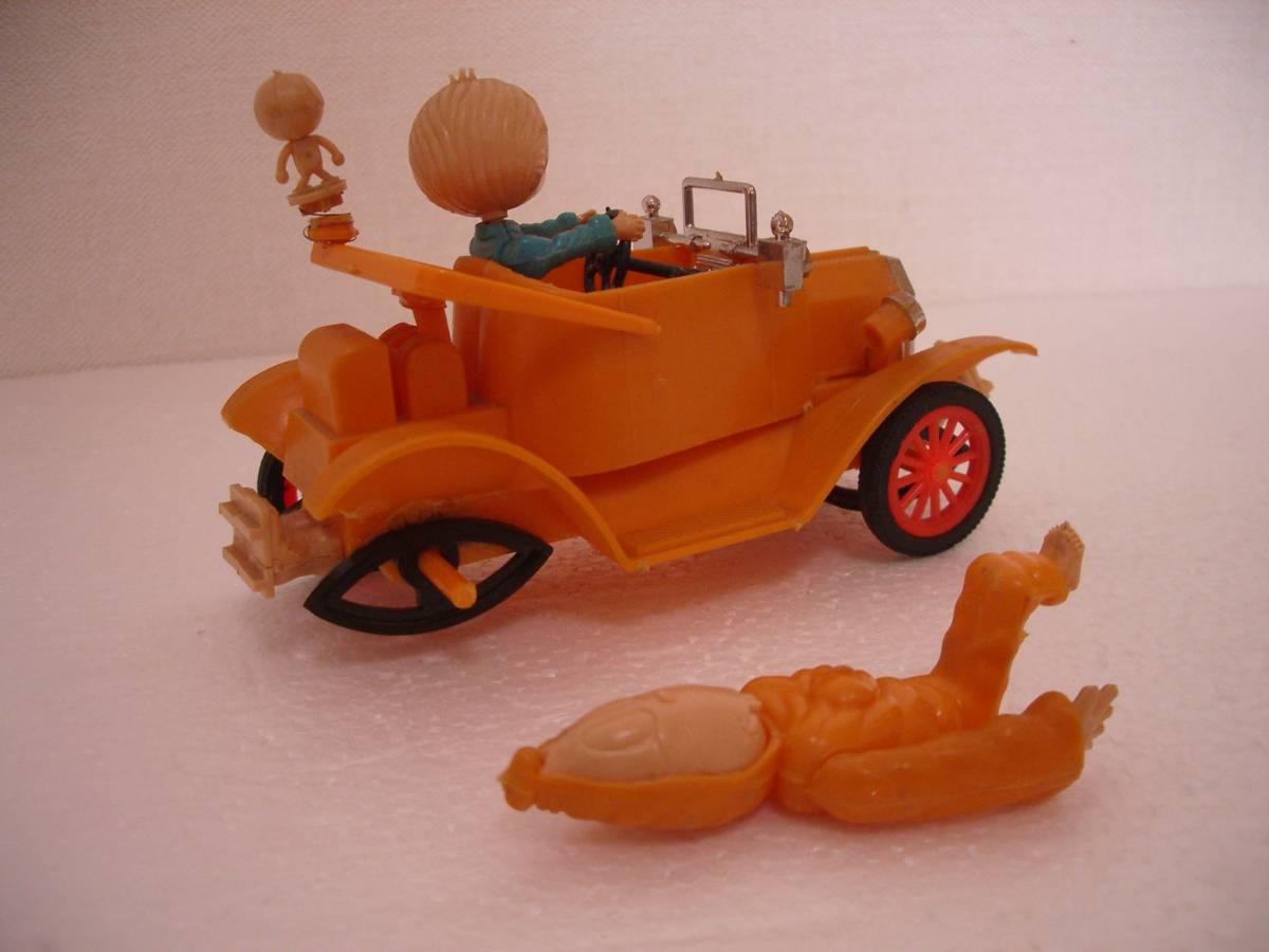 ゲゲゲの鬼太郎 妖怪自動車 初版と復刻版 イマイ IMAI 検 鉄腕アトム 鉄人28号_右側後輪がありません。