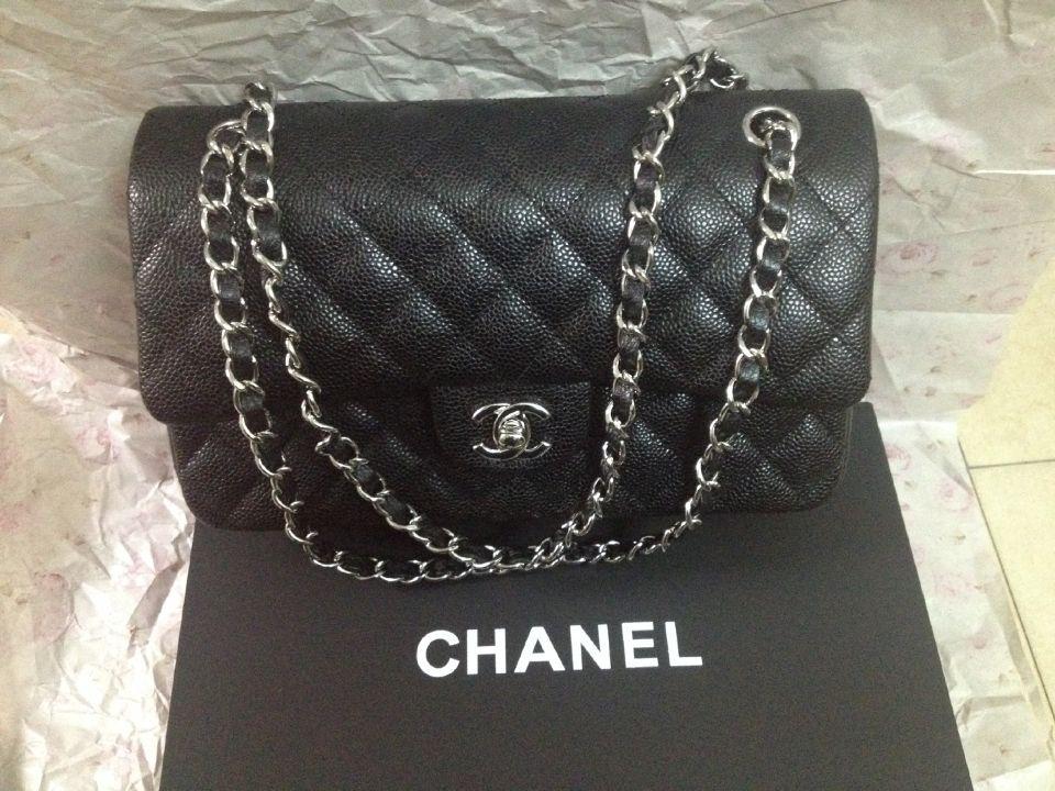 見逃さない!美品 Chanel シャネル 二重蓋 ブラック ショルダーバッグ