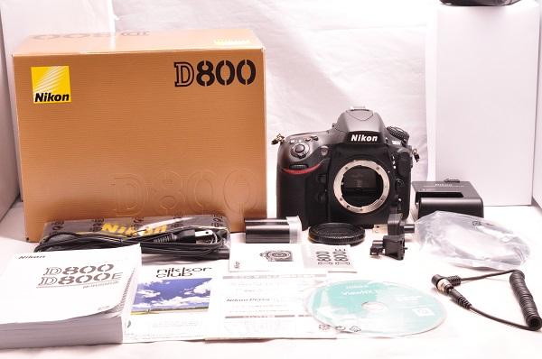★超極上美品★Nikon ニコン D800 ボディ 付属品完備 元箱★おまけニコン D800 スーパーブック 機能解説編 つき