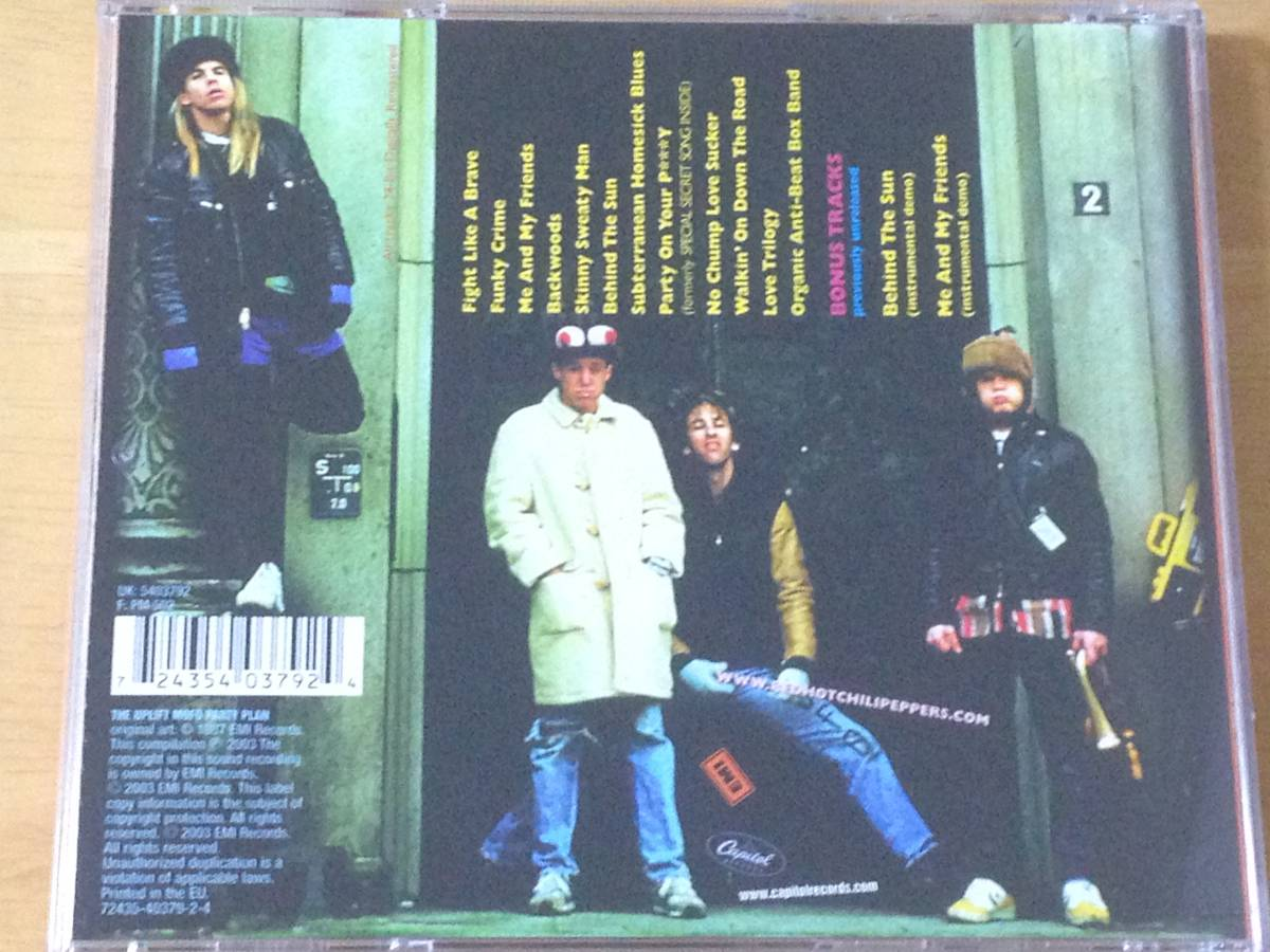 The Red Hot Chili Peppers The Uplift Mofo Party Plan 輸入盤CD 検:レッドホットチリペッパーズ レッチリ 3rd リマスター_画像2