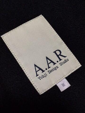 """YOHJI YAMAMOTO デザイン """" A.A.R """" レザー ブルゾン ジャケット ( M ブラック ) ヨウジヤマモト Y's ワイズ_画像7"""