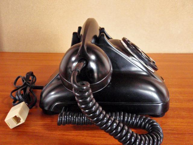 ▲昭和の黒電話▲整備済み 4号黒電話 光回線可/モジュラーケーブル延長仕様 岩崎通信 骨董_画像5