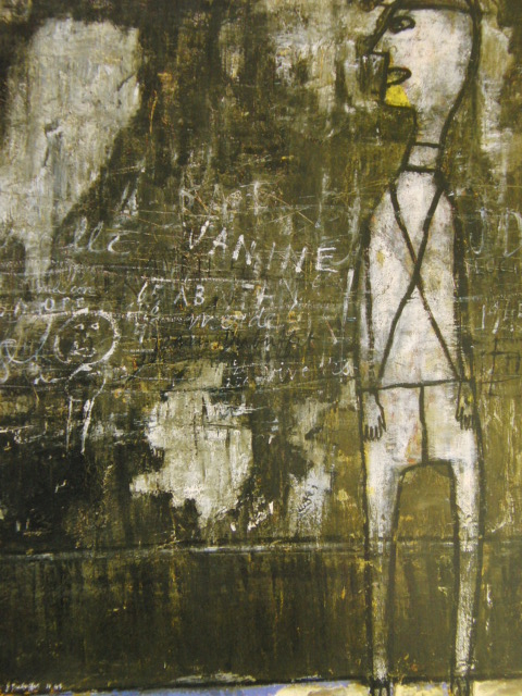 ジャン・デュビュッフェ、落書きのある壁(≪壁≫シリーズより)、希少な画集より、新品高級額、額装付、状態良好、送料込み_画像1
