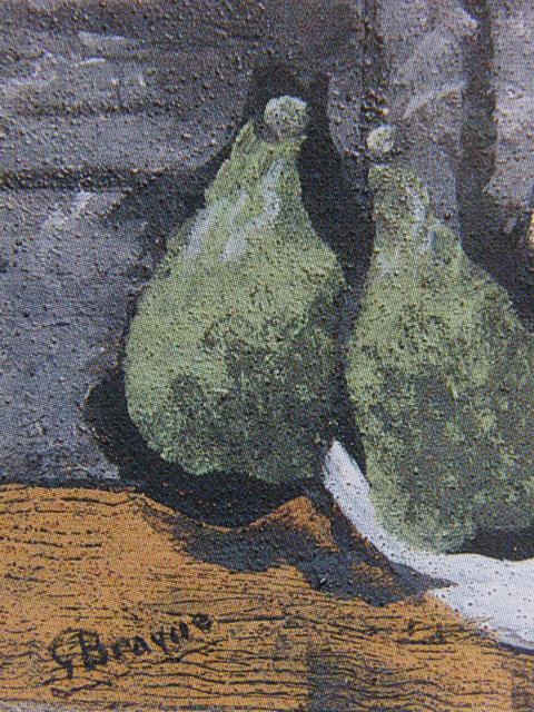【大特価セール】ジョルジュ・ブラック【果物のある静物】希少画集画、新品高級額装付、状態良好、送料込、静物画、フルーツ、西洋巨匠画家_画像2
