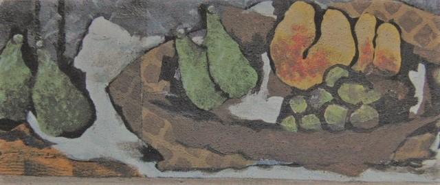 【大特価セール】ジョルジュ・ブラック【果物のある静物】希少画集画、新品高級額装付、状態良好、送料込、静物画、フルーツ、西洋巨匠画家_画像1