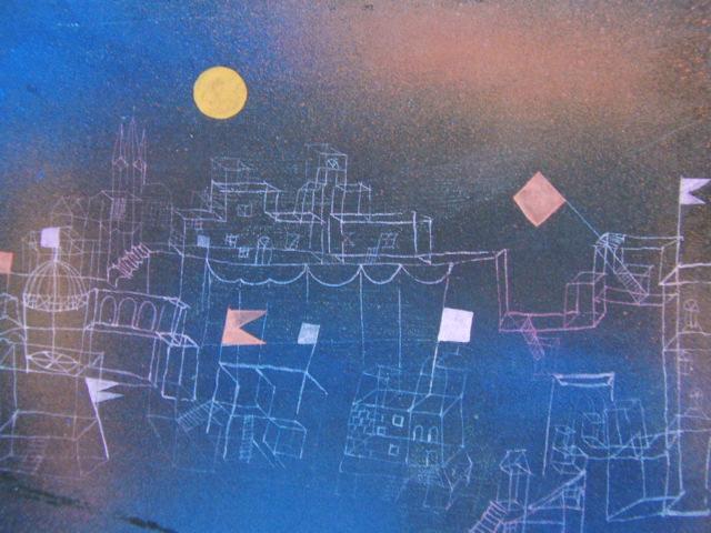パウル・クレー「満月のべショットの街」、希少画集画、新品高級額装付、状態良好、送料込み_画像1