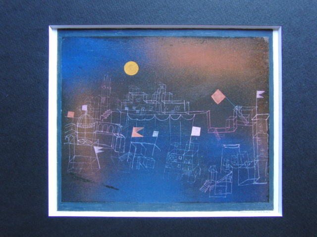 パウル・クレー「満月のべショットの街」、希少画集画、新品高級額装付、状態良好、送料込み_画像3