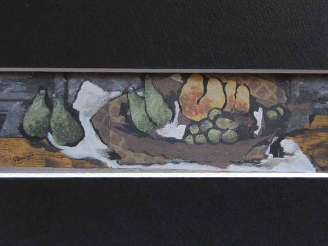 【大特価セール】ジョルジュ・ブラック【果物のある静物】希少画集画、新品高級額装付、状態良好、送料込、静物画、フルーツ、西洋巨匠画家_画像3