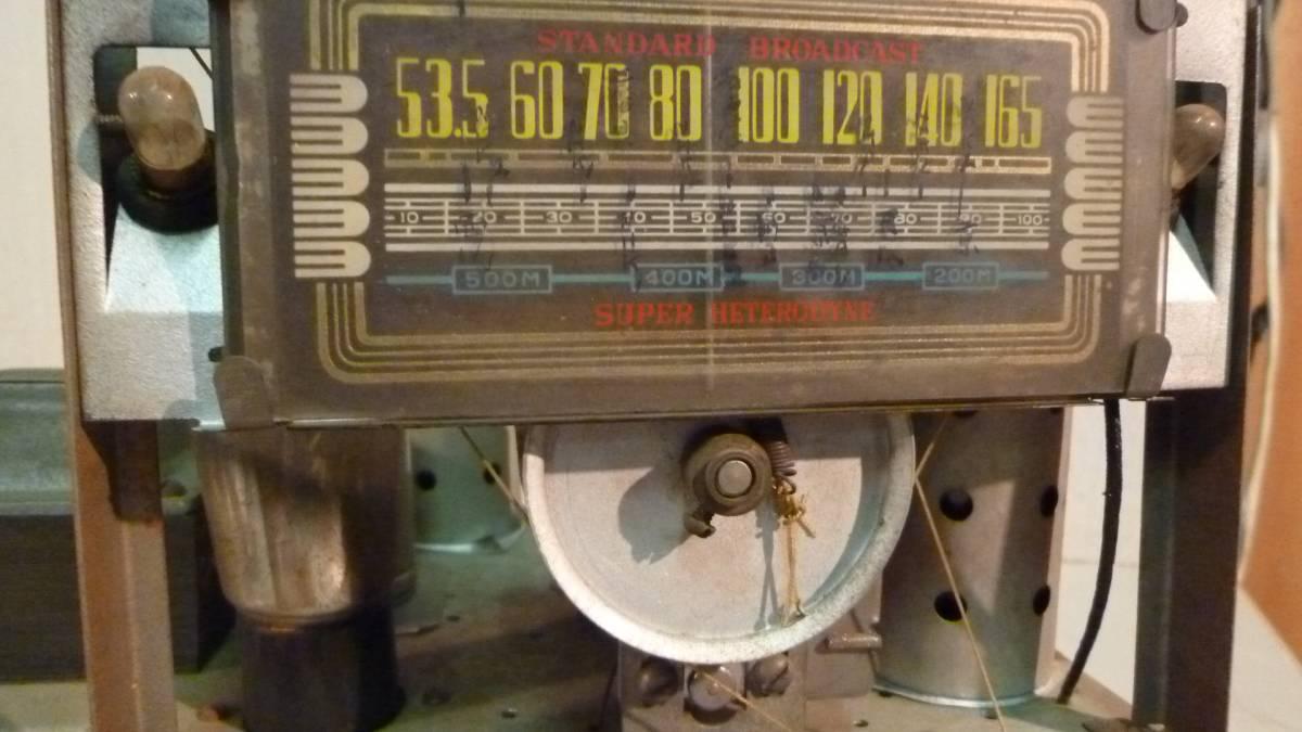真空管ラジオ 5球スーパー メーカー不明 ジャンク_画像2