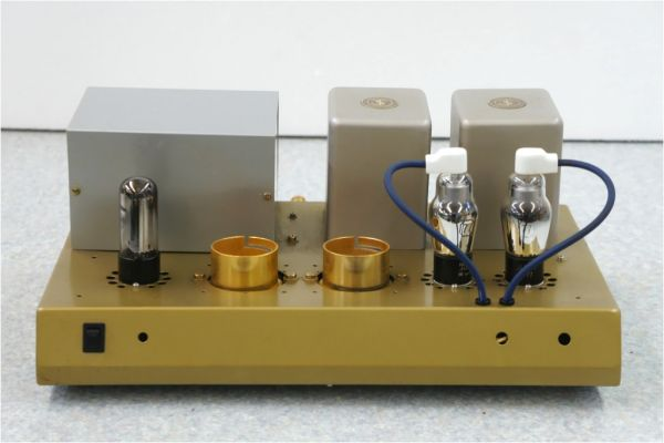 E41614】自作 真空管 パワーアンプ (VT-77、6AU4) サンスイ トランス 動作未確認