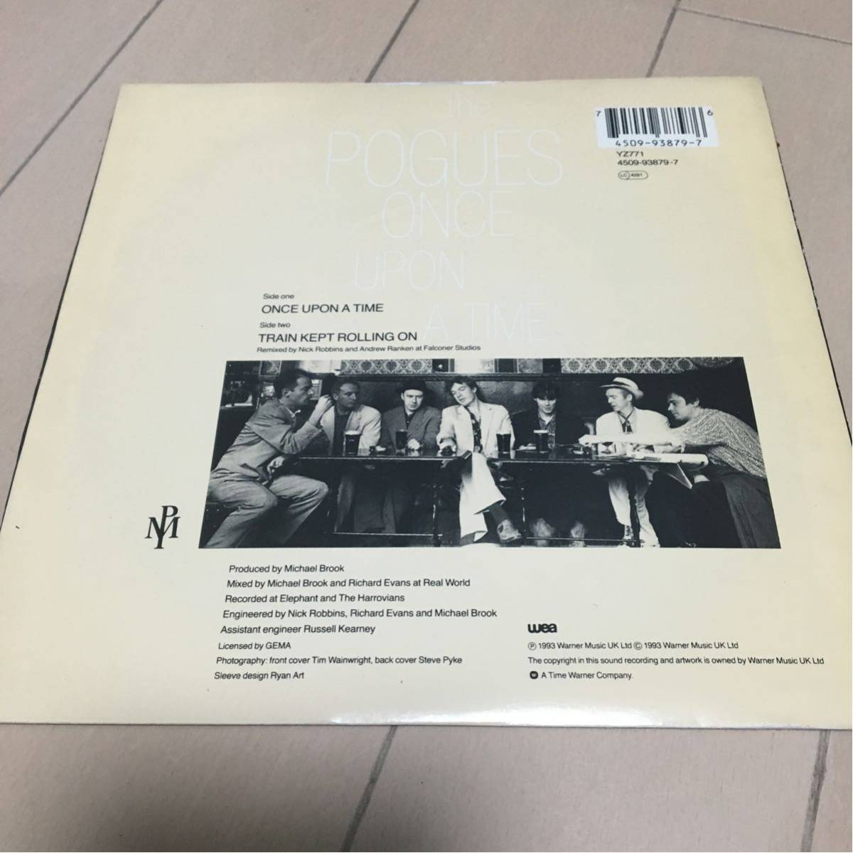 the POGUES / Once Upon a Time 7inch Clash パブロック 入手難 希少_画像2