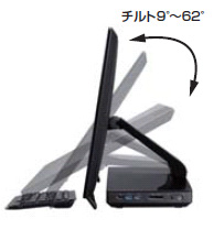ジャンク品 富士通 一体型パソコン/一体型PC ESPRIMO WH77/M (WW1/M)corei7 4702MQ/8GB 送料込み_画像3