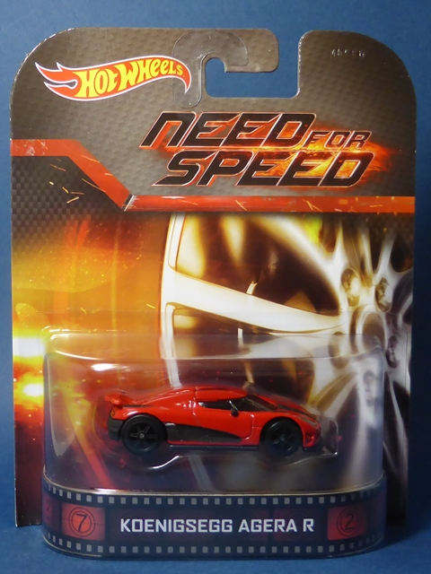 【HW】 ケーニグセグ アゲーラ R 赤 ★ 2014 Retro Entertainment Need For Speed Koenigsegg Agera R Hot Wheels ケーニッグセグ3