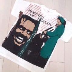 80's UK製 手刷り Tシャツ セディショナリーズ BOY FIFTH COLUMN モスキートヘッド 映画 シャイニング 時計じかけのオレンジ ビンテージ