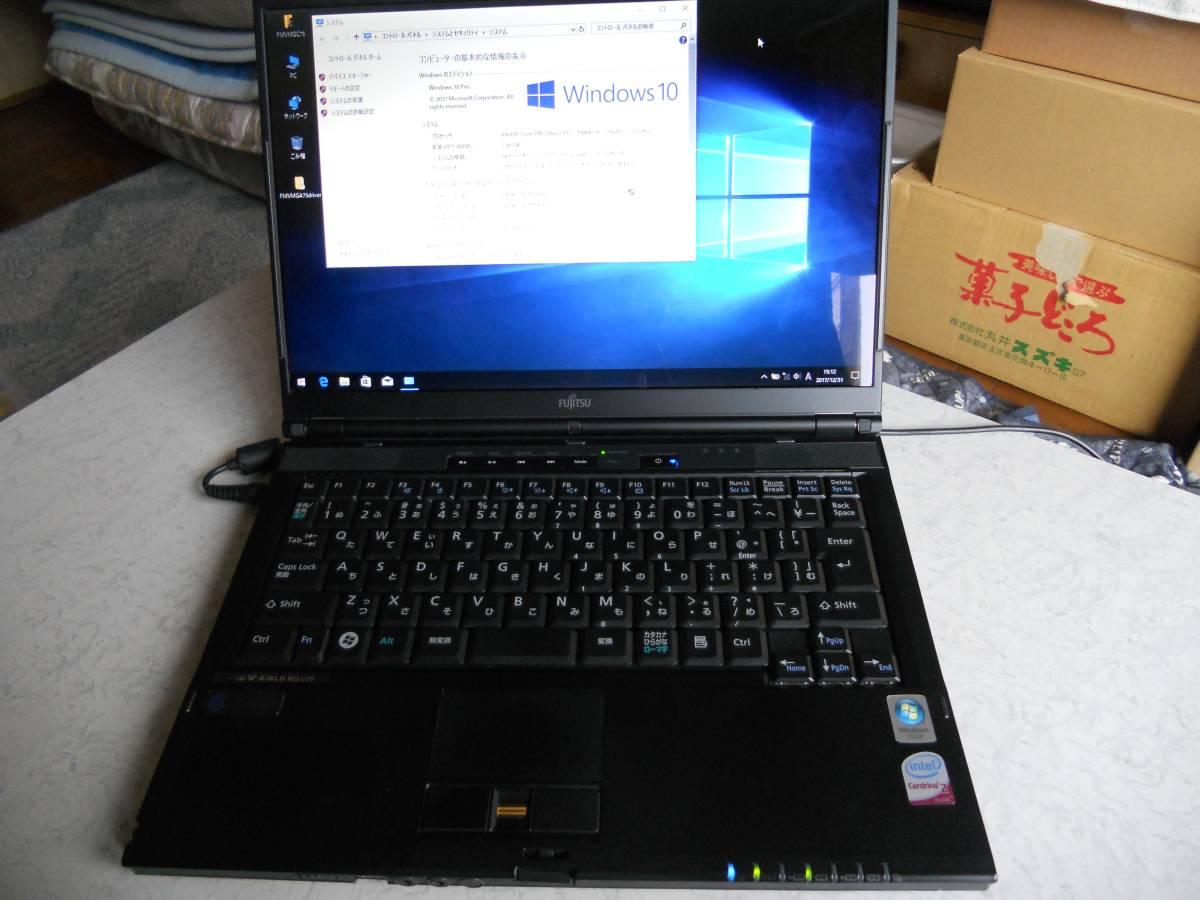 ジャンク 富士通 FMV-BIBLO MG/C75 C2DP8400 2.26GHz 2GB 80GB DVD-RAM MS Office2007付Win10pro64bit FMVMGC75Pはいらんかね。_画像4