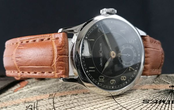 極上品【ジャガールクルト☆WW2】アンティーク ミリタリー 手巻き P463 メンズ腕時計☆1940s_画像3