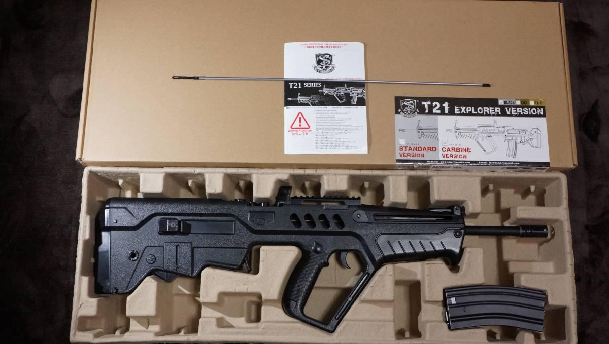 試射のみ 新品同様 S&T タボール T21 BK Explorer Ver. 電動ガン