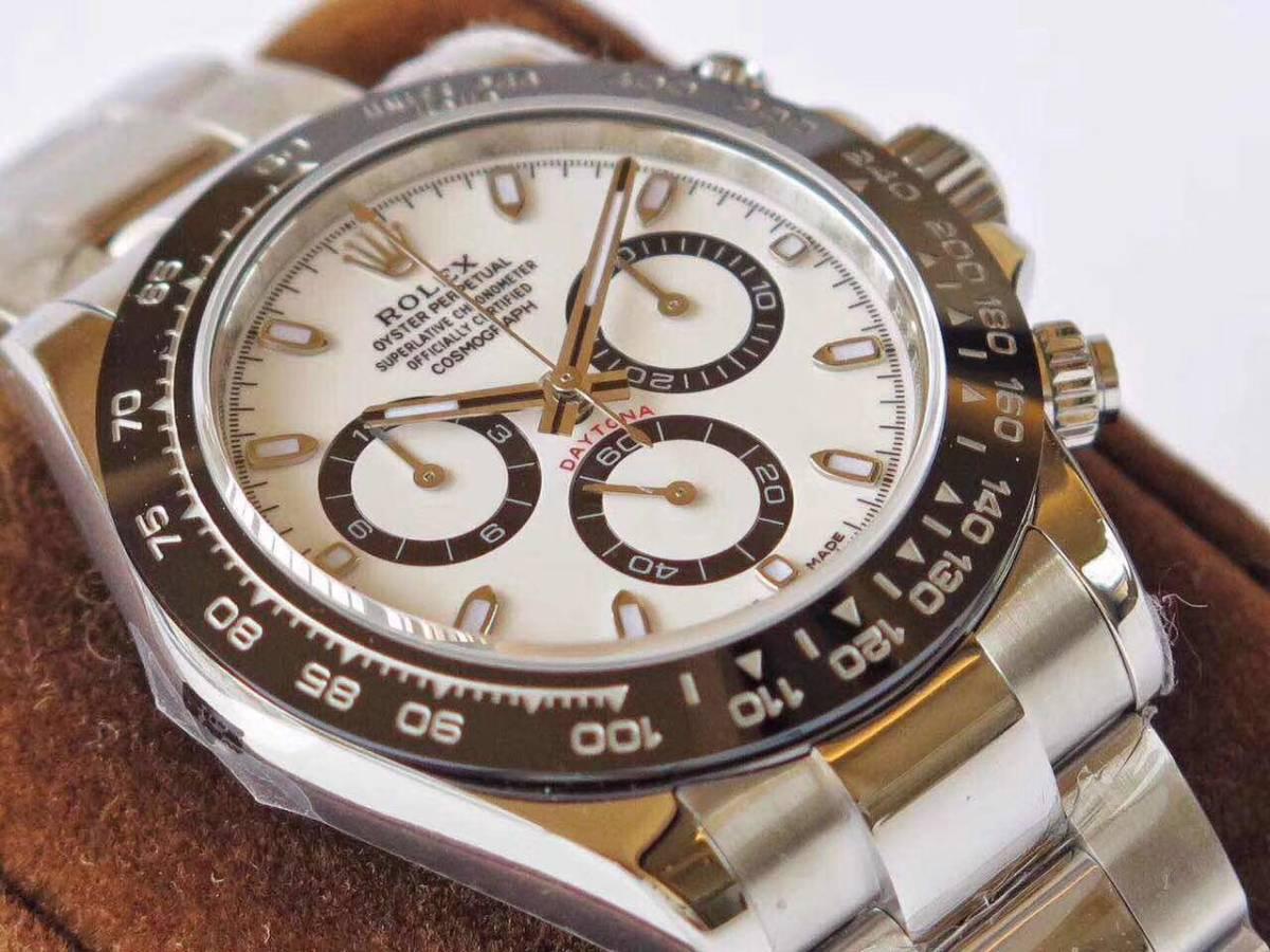 ロレックス デイトナ 自動巻 コスモグラフ 白文字盤 メンズ腕時計_画像3