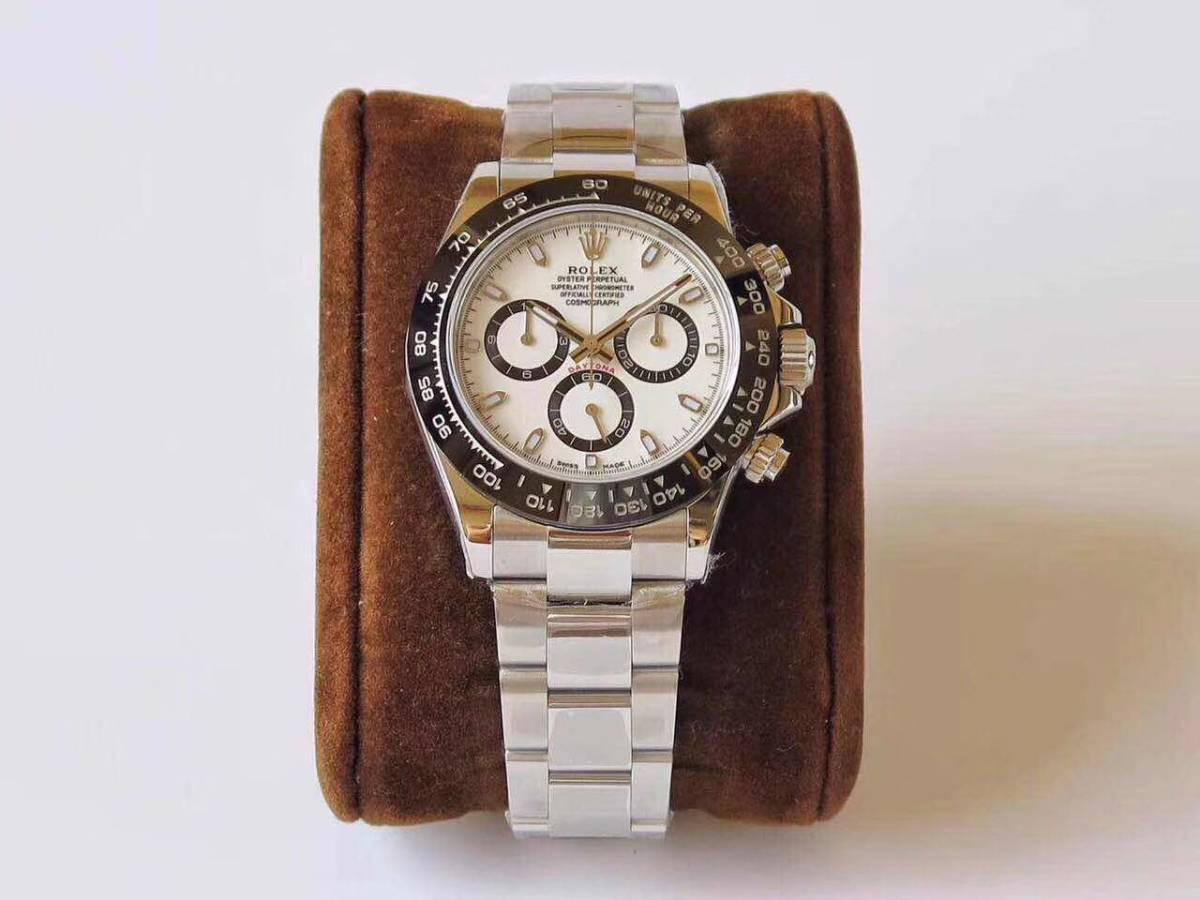 ロレックス デイトナ 自動巻 コスモグラフ 白文字盤 メンズ腕時計