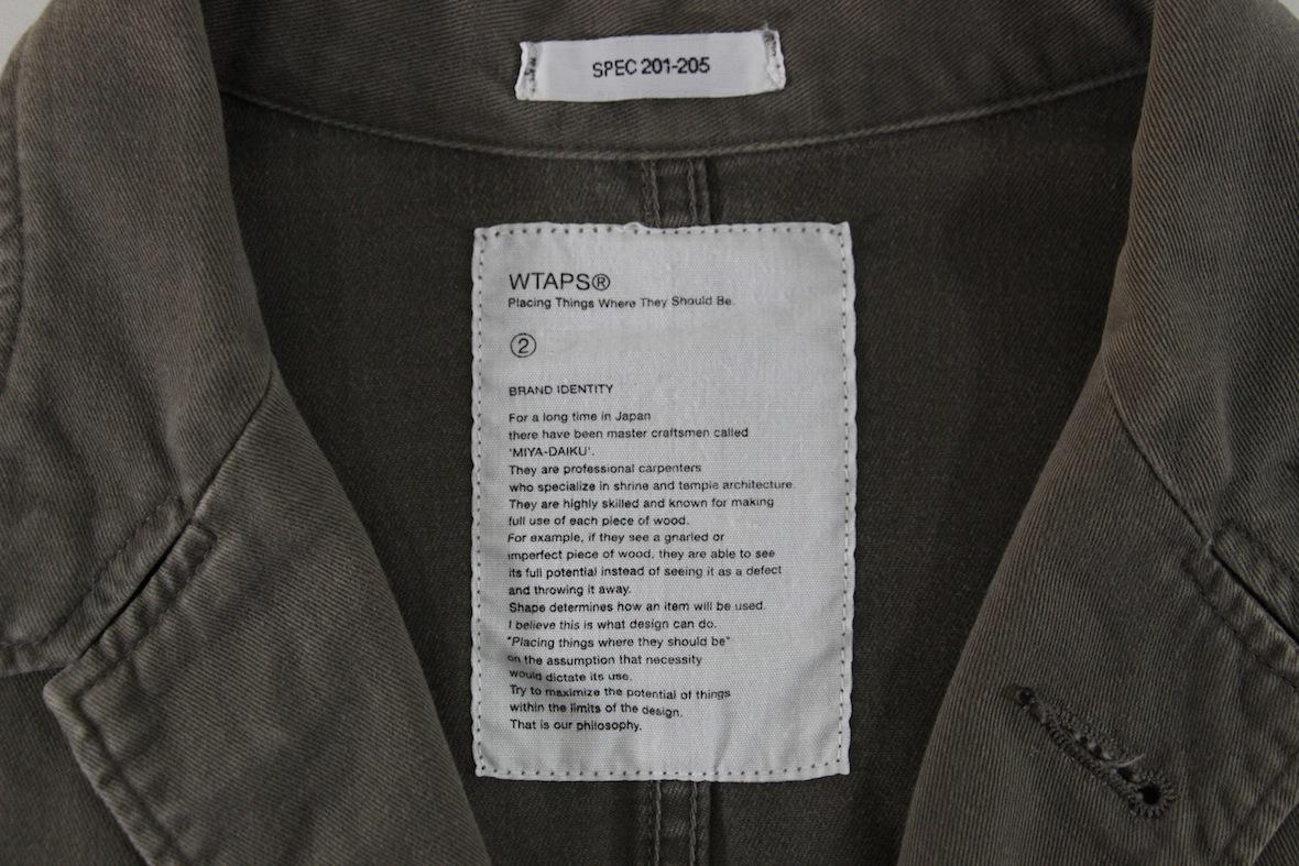 【希少品】WTAPS 12AW shop coat ミリタリー ショップコート M カーキ 刺繍 シャツ ロング ジャケット ダブルタップス WAY OF LIFE_画像4