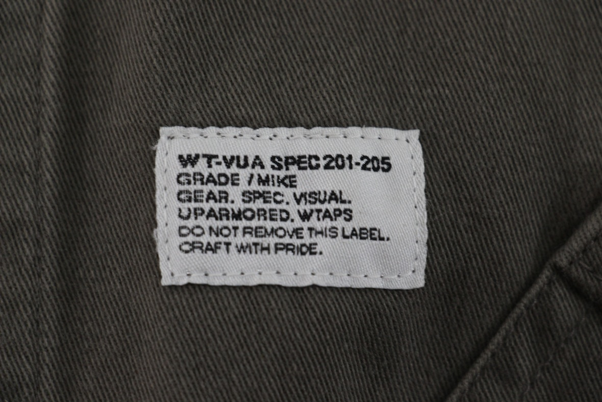 【希少品】WTAPS 12AW shop coat ミリタリー ショップコート M カーキ 刺繍 シャツ ロング ジャケット ダブルタップス WAY OF LIFE_画像7