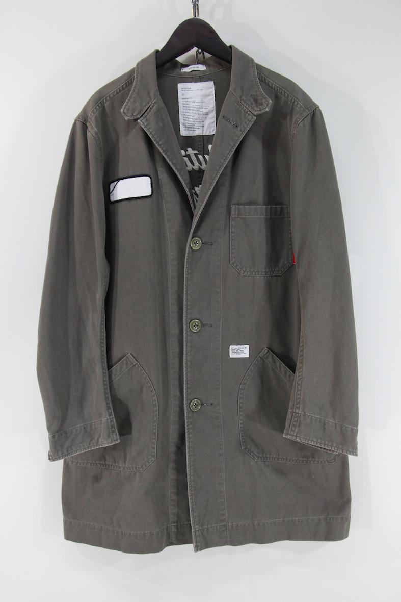 【希少品】WTAPS 12AW shop coat ミリタリー ショップコート M カーキ 刺繍 シャツ ロング ジャケット ダブルタップス WAY OF LIFE_画像1