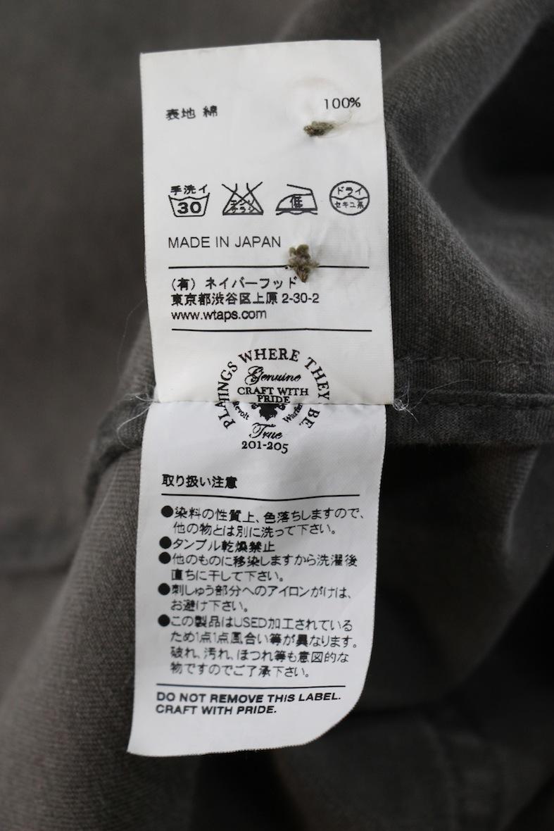 【希少品】WTAPS 12AW shop coat ミリタリー ショップコート M カーキ 刺繍 シャツ ロング ジャケット ダブルタップス WAY OF LIFE_画像9
