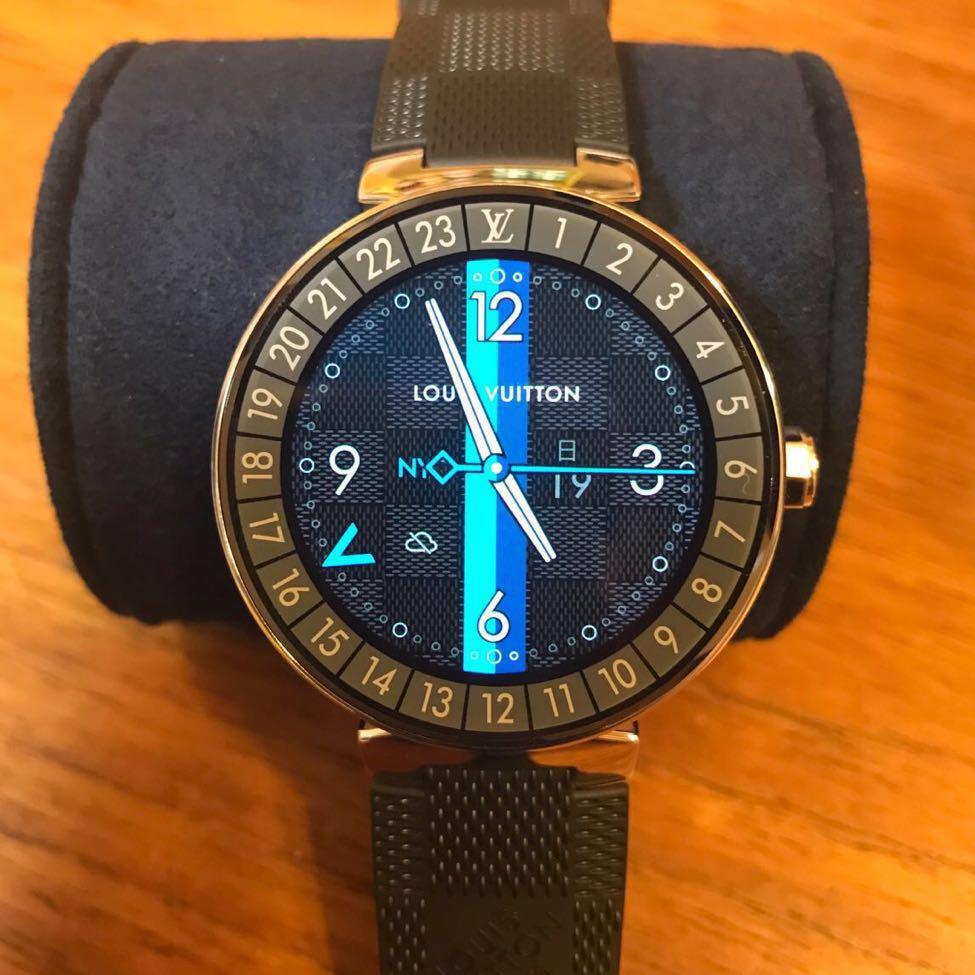 ★新品同様★ louis vuitto タンブール ホライゾン グラフィット QAAA21 ルイヴィトン 腕時計 スマートウォッチ 電子時計 smart watch
