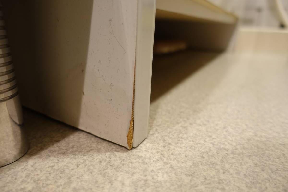 ランドリー収納棚 白 完成品★幅70cm、高さ180cm、奥行39cm 洗面所 洗濯_画像4