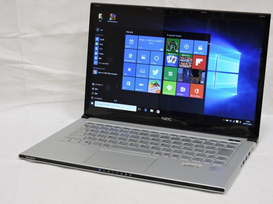 超薄超軽 重さ875g 良品 13.3型 NEC VK19SG-F Win10 64 Pro/三世代Core i7/4GB/SSD 128G/無線/Kingsoft Office 2016 税無 中古PC