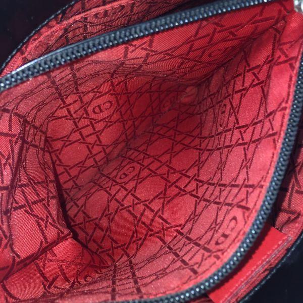 1円~☆高級ブランド☆  Christian Dior クリスチャン ディオール ハンドバッグ カナージュ ナイロン キルティング 黒色 画像多数_画像8
