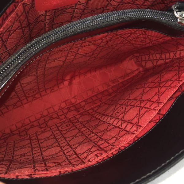 1円~☆高級ブランド☆  Christian Dior クリスチャン ディオール ハンドバッグ カナージュ ナイロン キルティング 黒色 画像多数_画像6