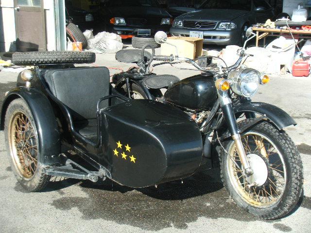 希少 愛知から 長江 側車付きオートバイ CJ750 サイドカー 3人乗り 実働訳あり 売り切り