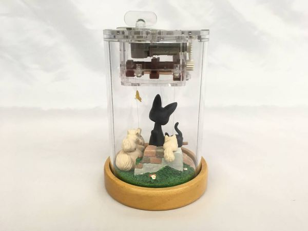 D100 スタジオジブリ 魔女の宅急便 黒猫 ジジ あやつりオルゴール やさしさに包まれたなら_画像2
