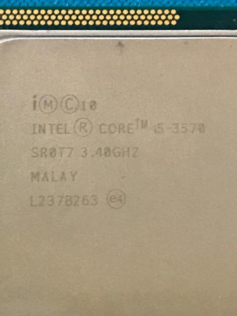 Intel Core i5-3570 3.40GHz 動作品 即決ネコポス送料無料