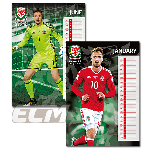 【SALE】ウェールズ代表 公式 2018年度 ポスター型 カレンダー ベイル BALE WALES EURO2016_画像2