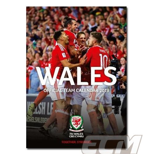 【SALE】ウェールズ代表 公式 2018年度 ポスター型 カレンダー ベイル BALE WALES EURO2016_画像1