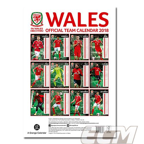 【SALE】ウェールズ代表 公式 2018年度 ポスター型 カレンダー ベイル BALE WALES EURO2016_画像3