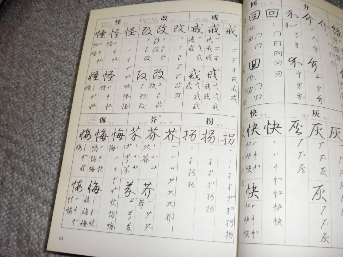 ☆筆順字典 横山淳一編著☆_画像3