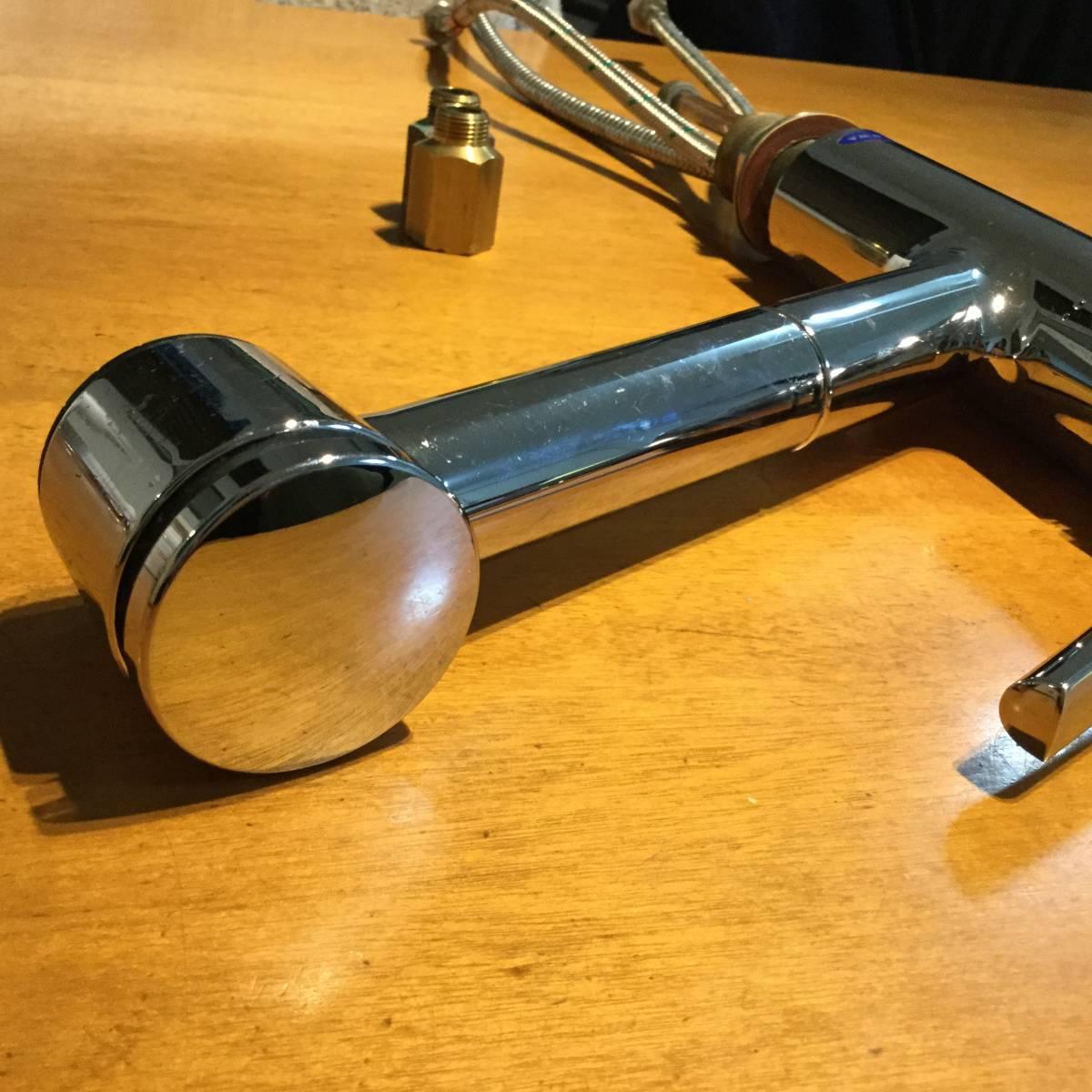 ★スイス名門水栓メーカーKWC社 伸縮シャワーヘッド混合水栓 パッキン交換要★_画像4