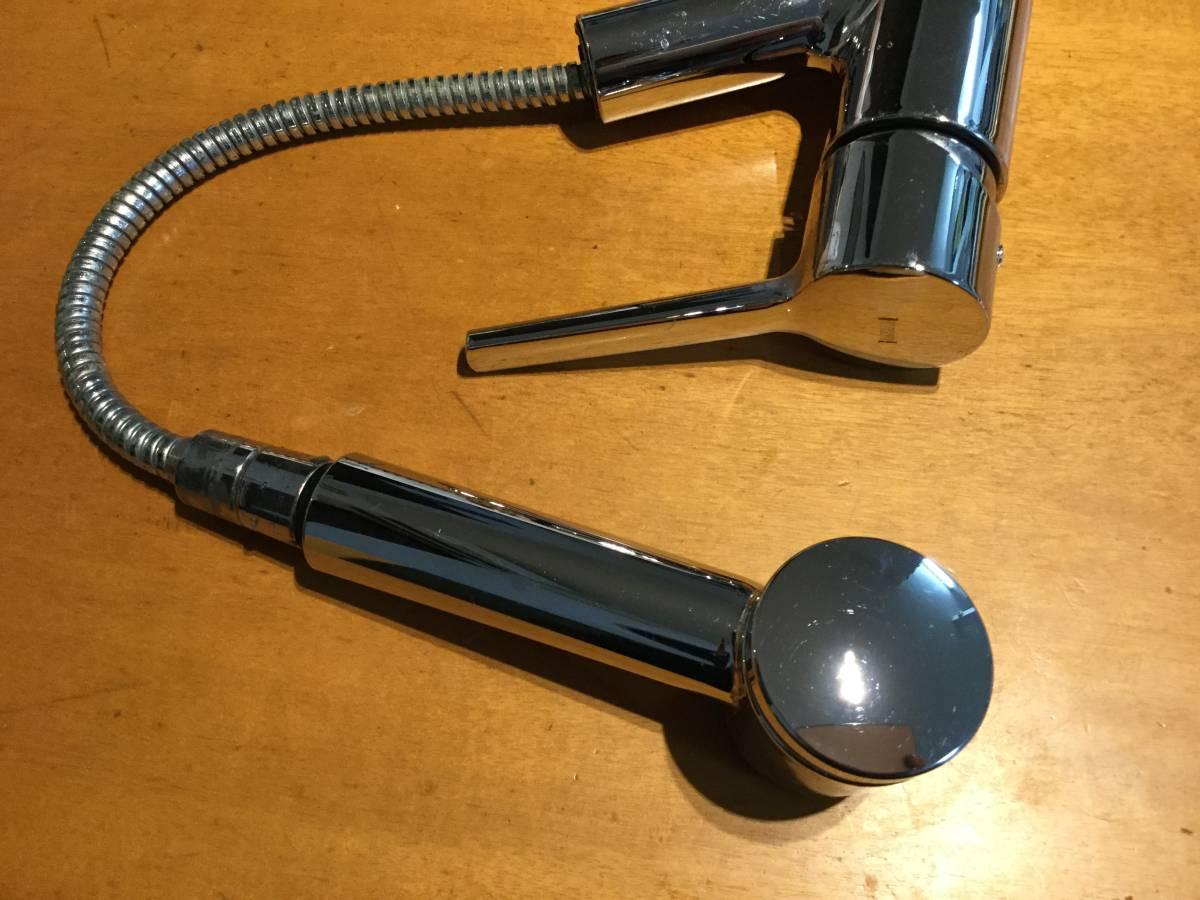 ★スイス名門水栓メーカーKWC社 伸縮シャワーヘッド混合水栓 パッキン交換要★_画像5